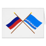 Crossed flags of Russia & Yamalo-Nenets Auto Okrug Greeting Card
