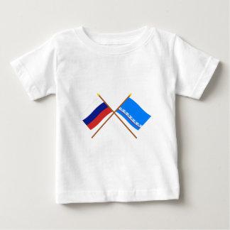 Crossed flags of Russia & Yamalo-Nenets Auto Okrug Infant T-shirt