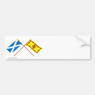 Crossed Flags of Scotland Bumper Sticker