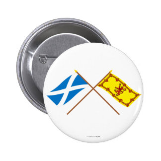 Crossed Flags of Scotland Button