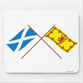 Crossed Flags of Scotland Mouse Pads