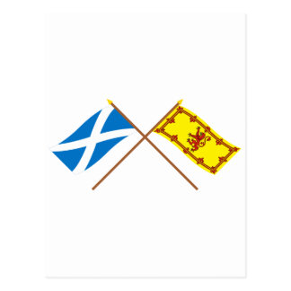 Crossed Flags of Scotland Postcard