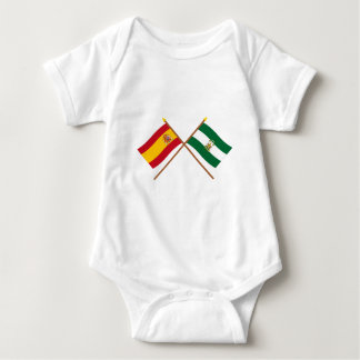 Crossed flags of Spain and Andalucía T-shirt