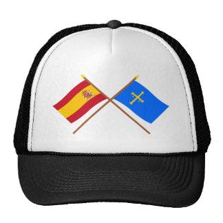 Crossed flags of Spain and Asturias Trucker Hat