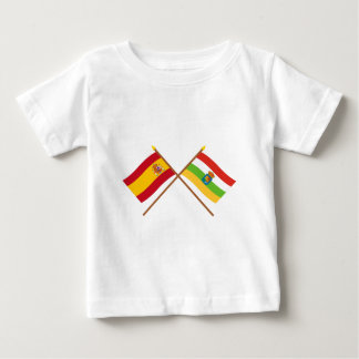 Crossed flags of Spain and La Rioja T Shirt