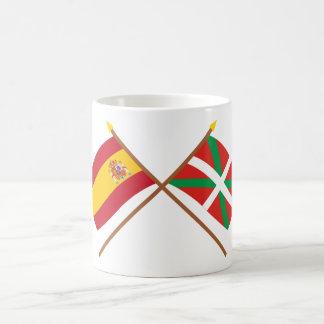 Crossed flags of Spain and País Vasco (Euskadi) Coffee Mug
