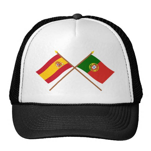 Crossed Flags of Spain and Portugal Trucker Hat