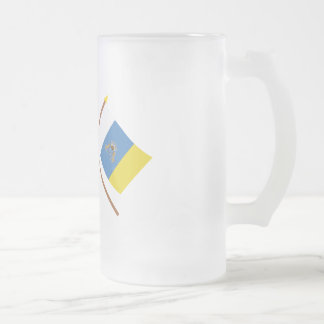 Crossed flags of Spain and the Canary Islands Mugs