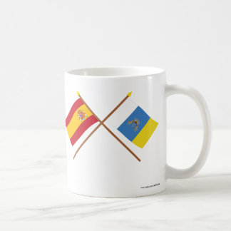 Crossed Flags of Spain and the Canary Islands Mug