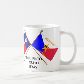 Crossed Flags of Texas and Palo Pinto County Coffee Mug