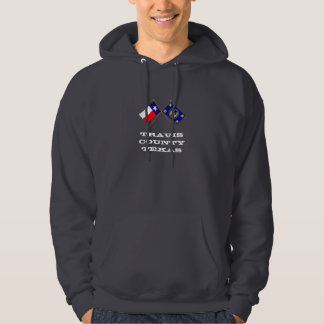 Crossed Flags of Texas and Travis County Hoodie