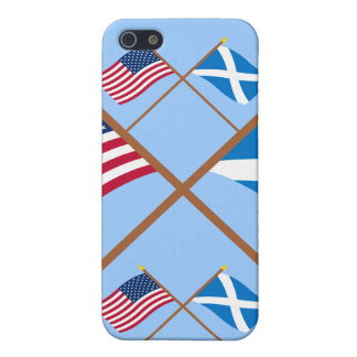 Crossed Flags of the USA and Scotland (Cross) Cover For iPhone 5