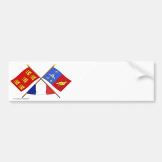 Crossed flags Poitou-Charentes & Charente-Maritime Bumper Sticker