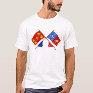 Crossed flags Poitou-Charentes & Charente-Maritime T-Shirt