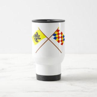 Crossed Flanders and Antwerp Flags Mug