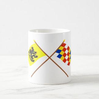 Crossed Flanders and Antwerp Flags Coffee Mugs