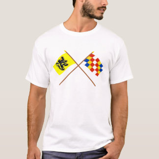 Crossed Flanders and Antwerp Flags T-Shirt