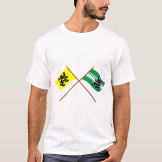 Crossed Flanders and East Flanders Flags T-Shirt