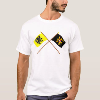 Crossed Flanders and Flemish Brabant Flags T-Shirt