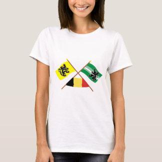 Crossed Flanders & East Flanders Flags w Belgium T-Shirt