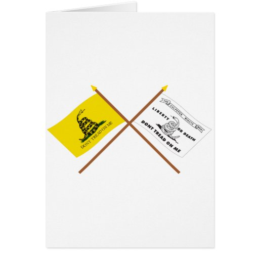 Crossed Gadsden and Culpeper Flags Card