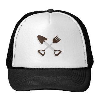 Crossed Garden Tools Trucker Hat