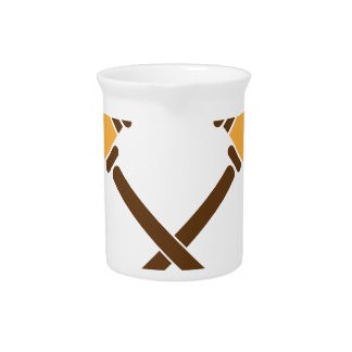 Crossed Gavels Beverage Pitcher