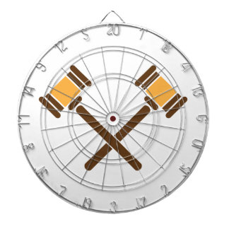 Crossed Gavels Dartboard