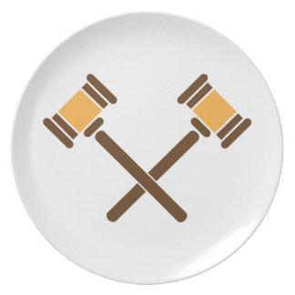 Crossed Gavels Plate