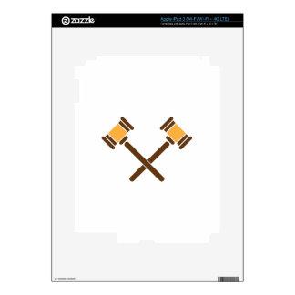 Crossed Gavels Skins For iPad 3