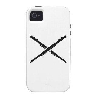 Crossed german flutes iPhone 4/4S covers