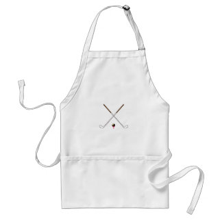 Crossed Golf Clubs Adult Apron