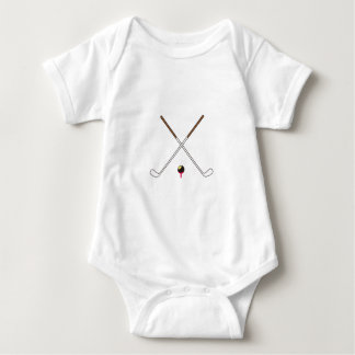 Crossed Golf Clubs Baby Bodysuit
