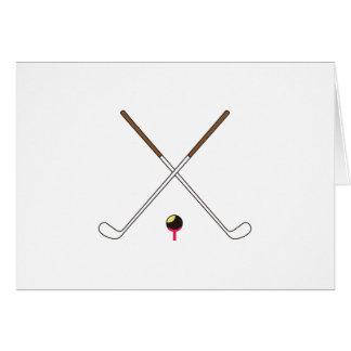 Crossed Golf Clubs Card