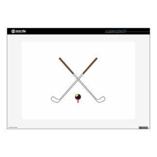 "Crossed Golf Clubs Decal For 15"" Laptop"