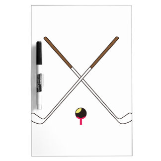 Crossed Golf Clubs Dry-Erase Board