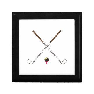 Crossed Golf Clubs Jewelry Box
