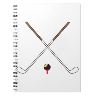 Crossed Golf Clubs Notebook