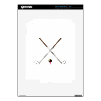 Crossed Golf Clubs Skin For iPad 2