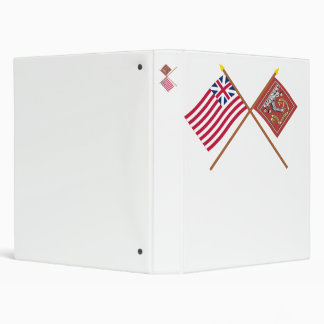 Crossed Grand Union and Bedford Flags Binder
