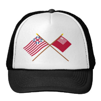 Crossed Grand Union and Brandywine Flags Mesh Hat