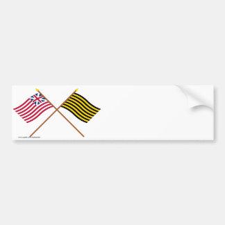 Crossed Grand Union and Brigantine Reprisal Flags Bumper Sticker