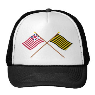 Crossed Grand Union and Brigantine Reprisal Flags Trucker Hat