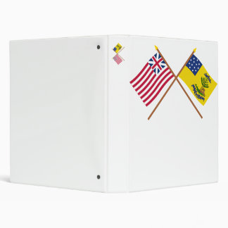 Crossed Grand Union and Bucks of America Flags Binder
