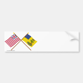 Crossed Grand Union and Bucks of America Flags Bumper Sticker