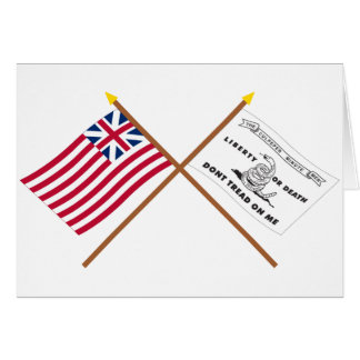 Crossed Grand Union and Culpeper Flags Greeting Card