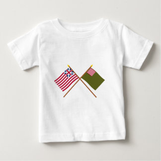 Crossed Grand Union and Delaware Militia Flags Baby T-Shirt
