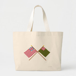 Crossed Grand Union and Delaware Militia Flags Canvas Bag