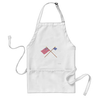 Crossed Grand Union and Forster Flags Adult Apron