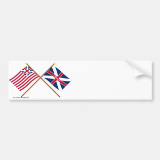Crossed Grand Union and Fort Johnson Flags Bumper Sticker